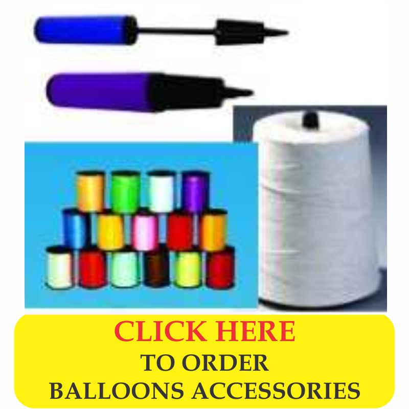 latex helium balloon accessories