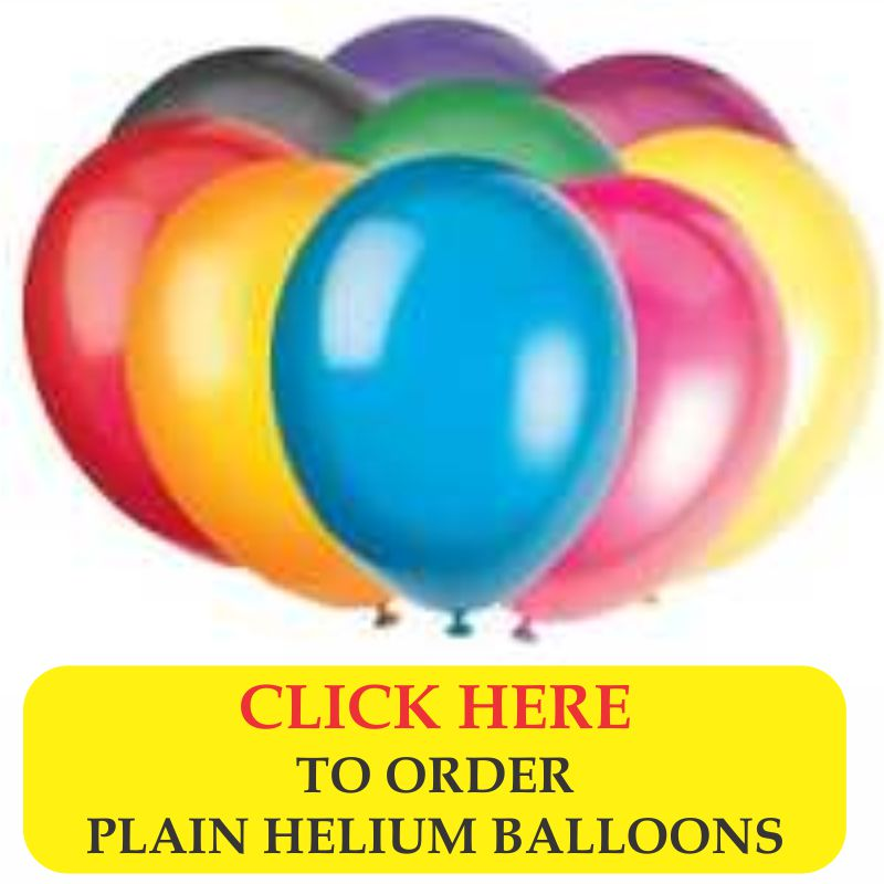 plain latex helium balloons