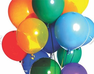 "10"" Plain Latex Helium Balloons"